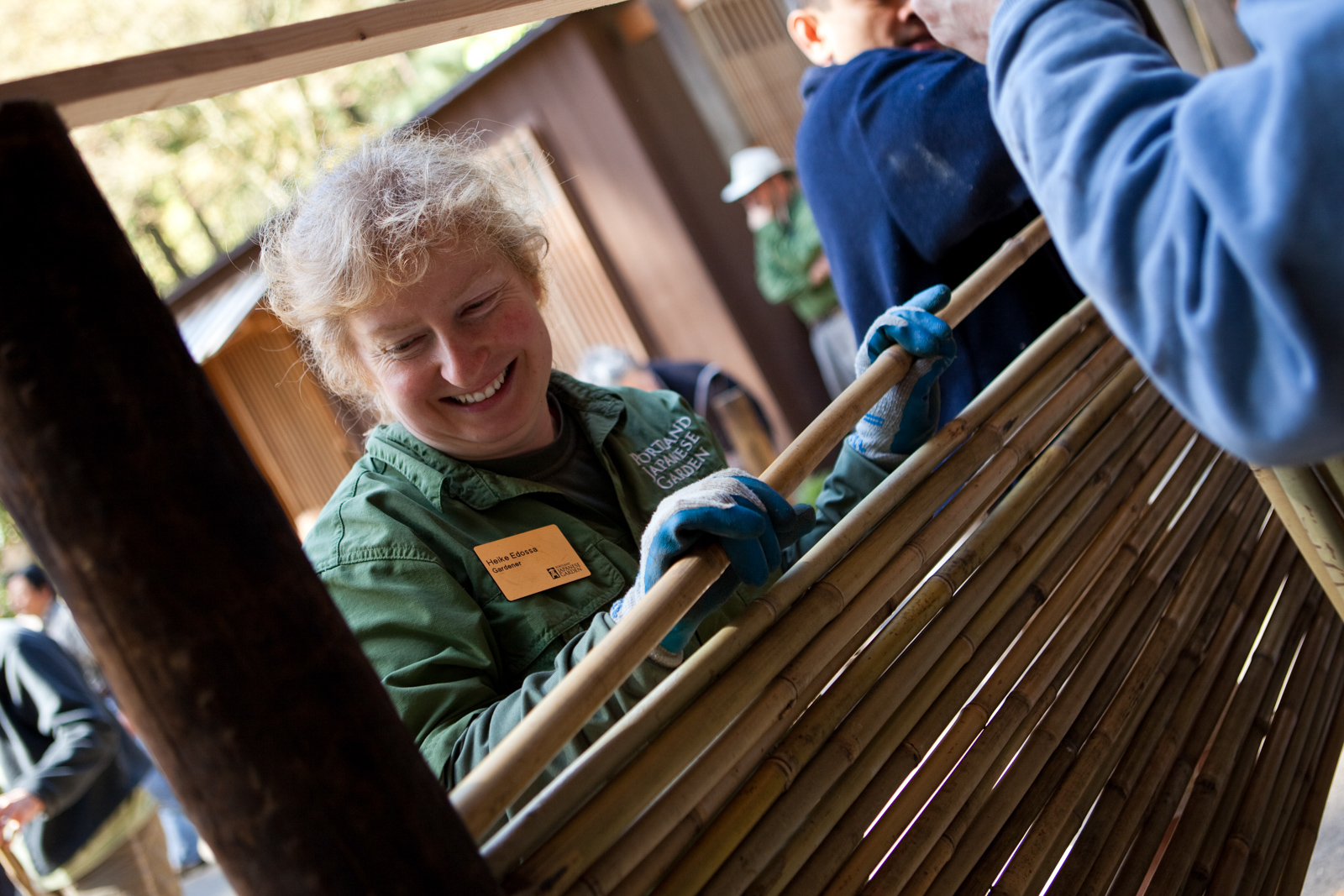 Garden workshop bamboo fence building portland japanese garden baanklon Image collections