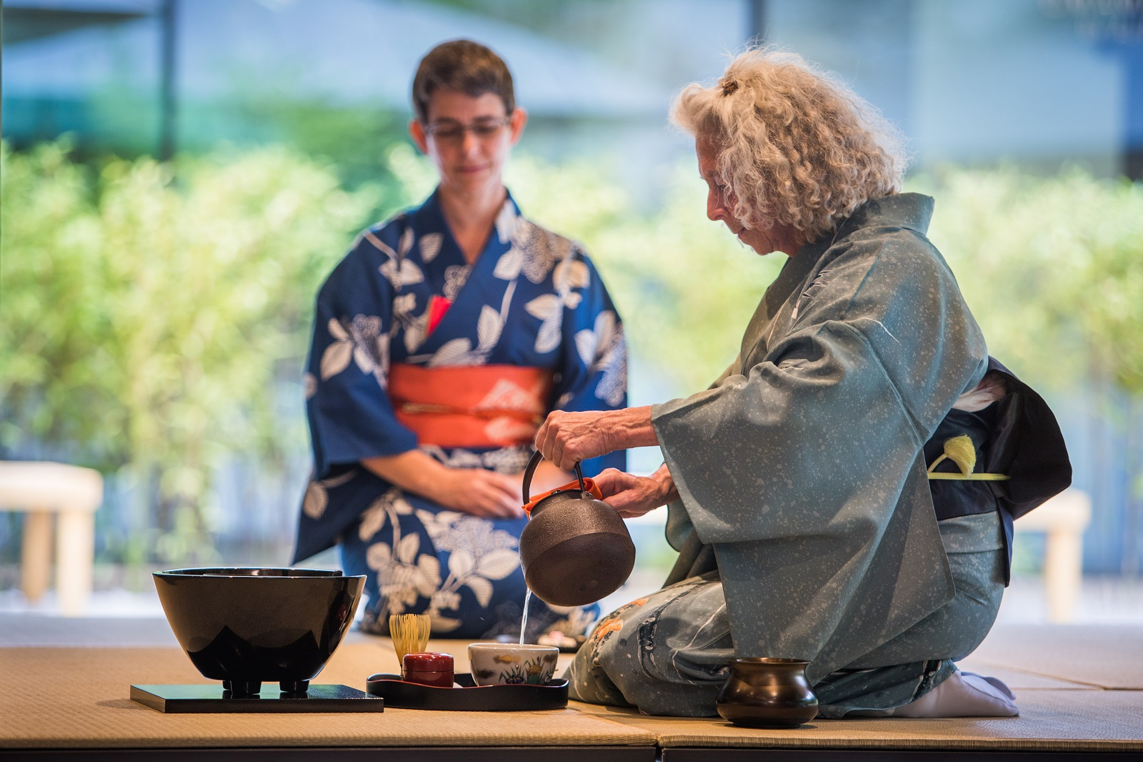 Buddhist Ceremony Traditional Japanese Garden: Cultural Demonstration: Tea Ceremony