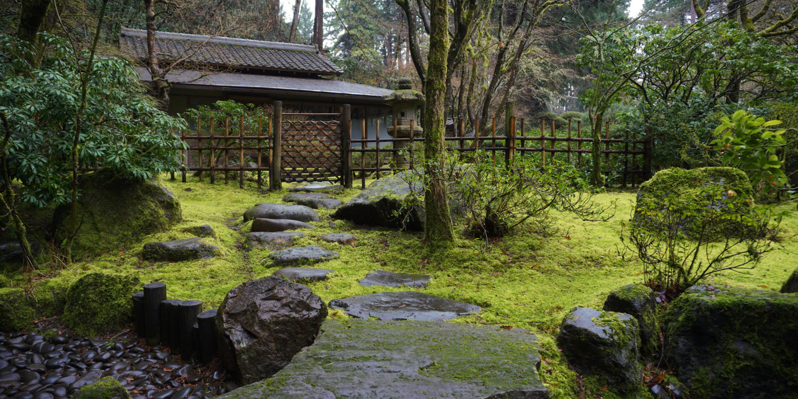 Tea garden portland japanese garden for Japanese house garden