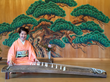 Masumi Timson with her koto