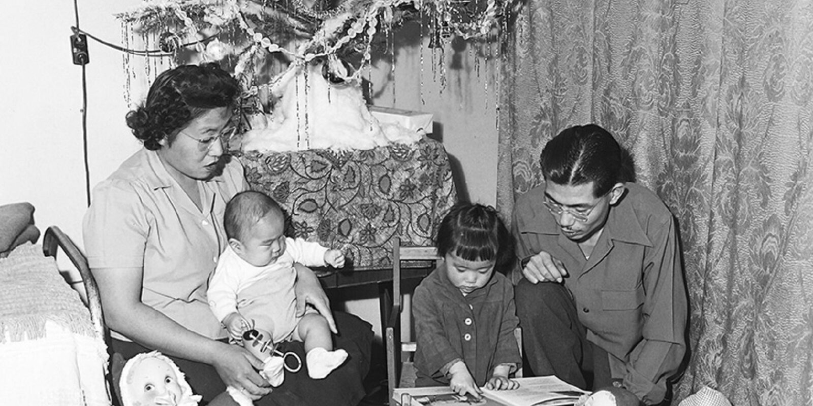 Christmas with the Frank Hirosawa Family in their barrack