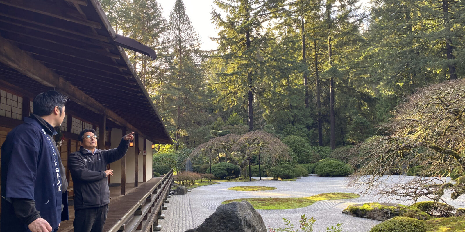 Sada and Hugo-Pavilion-Flat Garden-Winter-photo by Megumi Kato
